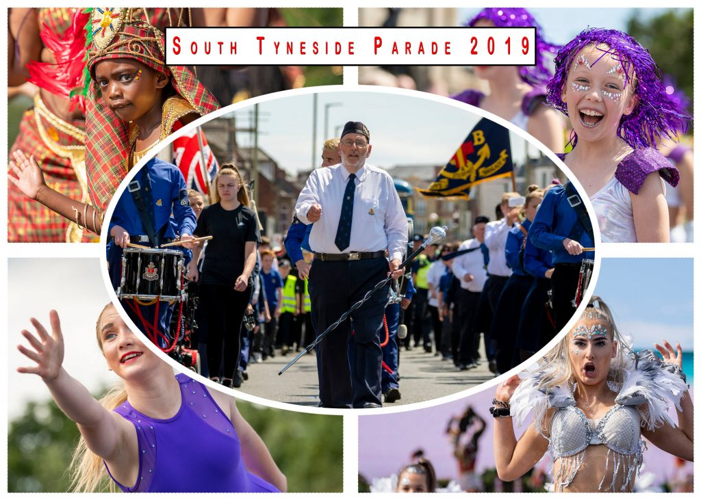 postcard of the south tyneside parade 2019