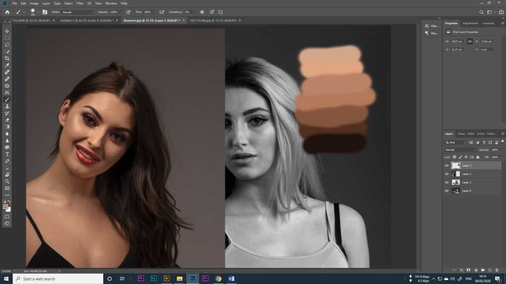 photoshop making your colour palette
