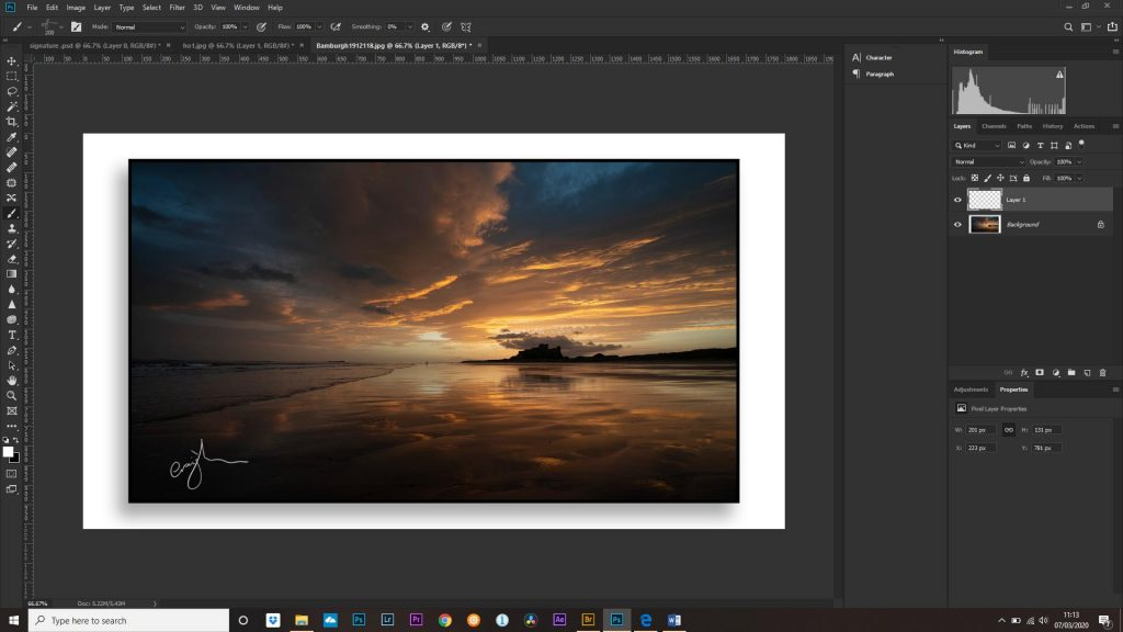 adding your signature in photoshop